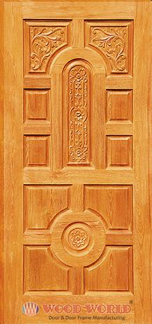 Ww 0111 wooden door and door frame manufacturing company for Latest main door designs 2016